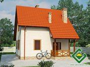 Строительство панельно-каркасных домов под ключ (СИП-панели) 90, 86 м2