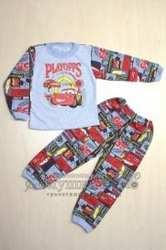 Пижама детская футер начес с рисунком Маша, Тачки