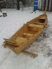 прогулочная лодка из сосны