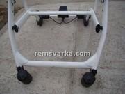 Ремонт колясок. Полтава.  Аргонная сварка алюминиевых колясок и деталей к ним.