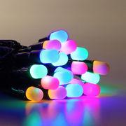 Гирлянда нить уличная 10м,  100led разноцветная оболочка